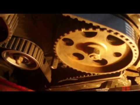 Замена грм и устранение течи масла с ДВС GOLF 2 1.6TD. Timing belt replacement engine GOLF 2 1.6 TD.