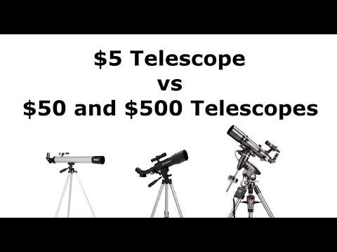 The $5 Telescope vs a $50 and $500 Telescopes