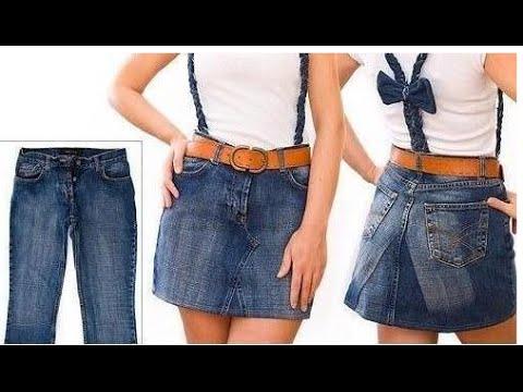 Как из брюк джинсовых сделать юбку