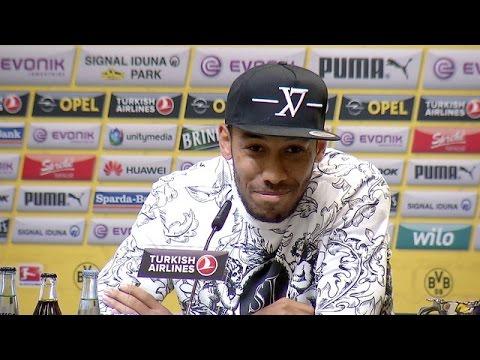 Pressekonferenz: Auba: 20 Tore sind mein Ziel   BVB - Bayer Leverkusen