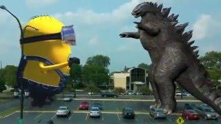 MINION ngoài đời thực - Quái vật Godzilla Đại Chiến Siêu MINION - GIANT MINION vs GODZILLA - Part 2