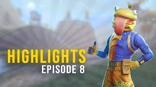 THE BEEF BOSS SKIN HAS THE BEST CAMOUFLAGE! | Highlights Ep. 8 (Fortnite Battle Royale Best Moments)