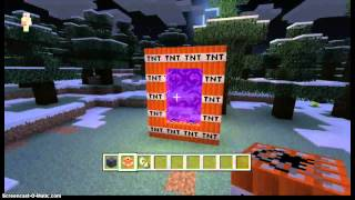minecraft xbox 360 how to make a TNT portal glitch