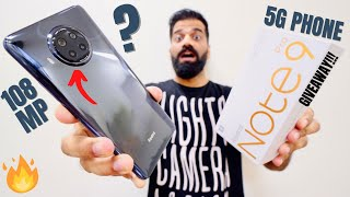 Redmi Note 9 Pro 5G Unboxing & First Look | Cheapest 5G with 108MP | Giveaway🔥🔥🔥