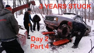 3 YEARS STUCK EPIC 4X4 RECOVERY Day 2 Part 4 by BSF Recovery Team