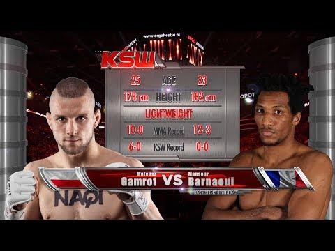 KSW Free Fight: Mateusz Gamrot vs. Mansour Barnaoui