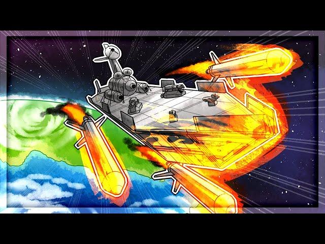LAUNCHING The ULTIMATE Warship in Kerbal Space Program
