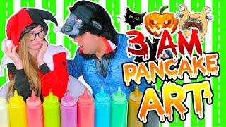 ¡NO HAGAS PANCAKE ART a las 3 A.M! ¡OMG! DIBUJOS QUE SE COMEN | HALLOWEEN PANCAKE ART CHALLENGE
