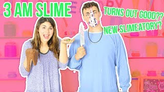 3 AM SLIME CHALLENGE  TURNS OUT GOOD? NEW SLIMEATORY?  Slimeatory #82