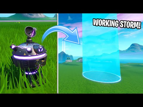 How to Make a WORKING STORM IN CREATIVE MODE! (EASY METHOD) (MOVING STORM)