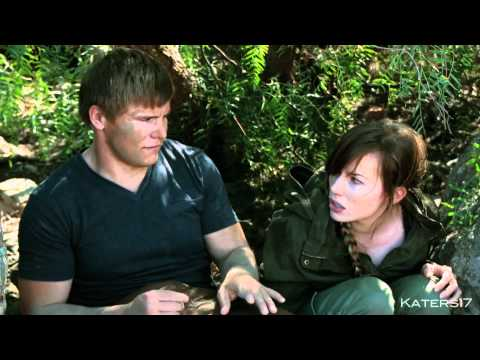 Uncut 'kiss' Improv  The Hunger Games  BLOOPERS a parody