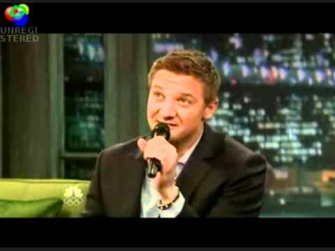 Jeremy Renner singing ...