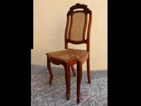 Mobili antichi sedie francesi in legno e paglia di vienna youtube