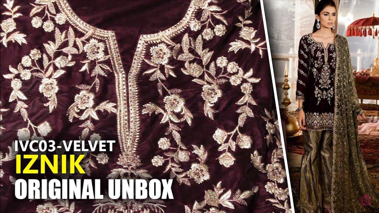 8039158d54 Iznik Velvet Collection 2019 - Unbox Deep Maroon IVC03 - Sara Clothes Try  on Haul