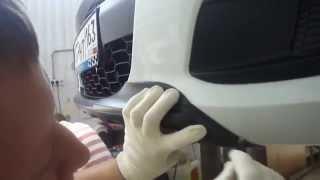 Декоративная накладка переднего бампера CROSS на Калину 2(Компания Автопродукт запустила в продажу декоративную накладку для переднего бампера в стиле CROSS для автом..., 2014-06-24T13:17:53.000Z)