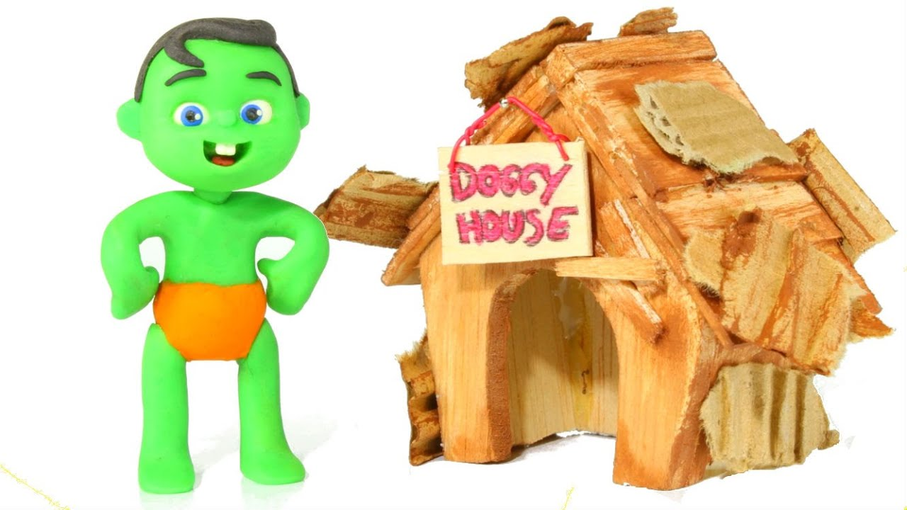 Download Kids Building A Doggy House ❤ Cartoons For Kids