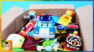 Car toys Robocar Poli Big Box with Superwings unboxing toys | MariAndKids Toys