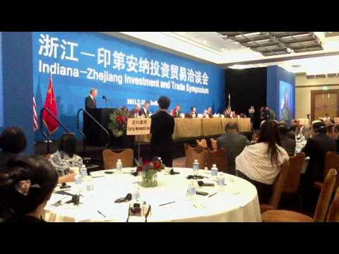 Indiana-Zhejiang Investment and Trade Symposium is held in Indianapolis, U.S., July 18, 2011