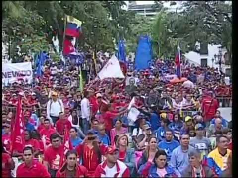 Tribuna Antiimperialista en la Plaza Bolívar, acto completo a 2 años de siembra de Chávez