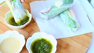 Овощные Спринг Роллы с Соусом / Vegetable Spring Rolls with Sauce