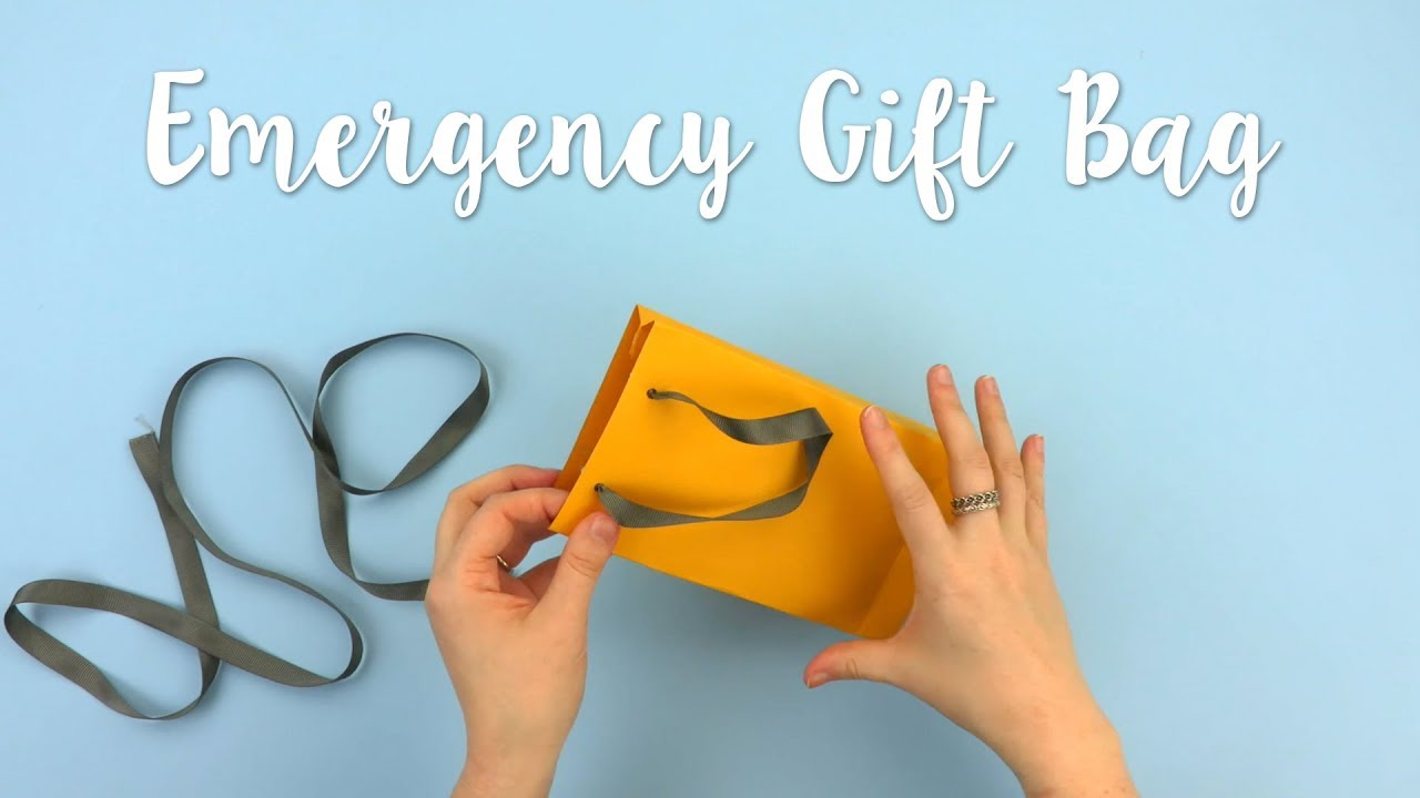 How To Make An Emergency Gift Bag Sizzix Lifestyle