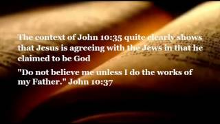 Did jesus deny being god (deity) in john 10:34?