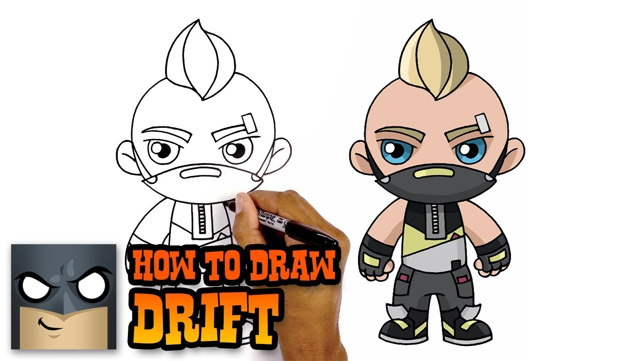 How To Draw Fortnite Drift Youtube