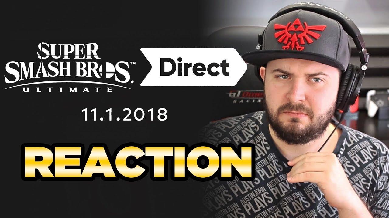 Smash Ultimate Direct Reaction Austin John Plays Youtube