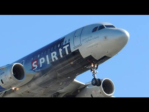 Spirit Airlines Airbus A319-132 [N514NK] landing in LAX