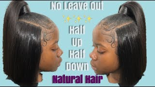 Half Up Half Down✨ILLUSION Part✨ (NO Leave Out) Natural Hair | Pronto