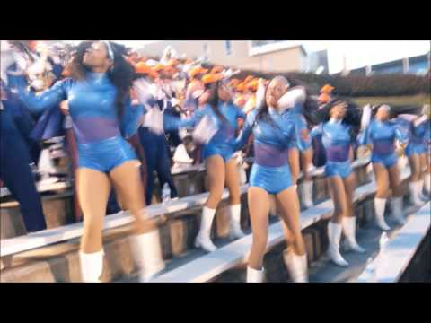 "Morgan State University Band jamming ""We Are the Bears"" Oct 2015, also cheerleaders, Foxy Dancers"