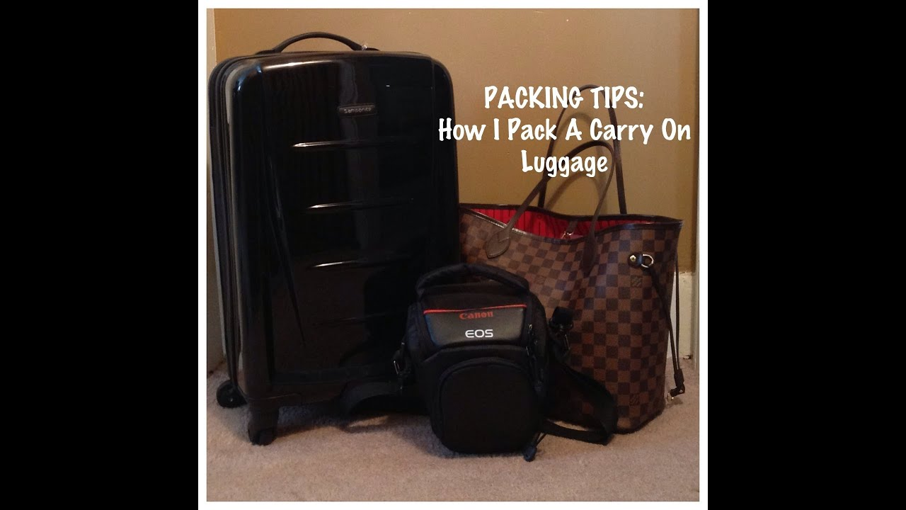 68 packing tips how i pack a carry on luggage youtube How to pack a carry on suitcase video
