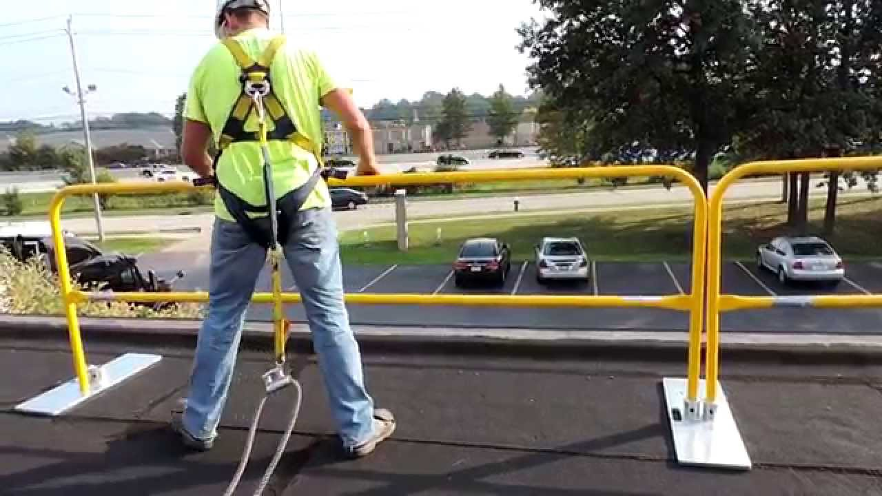 Work On The Edge With LORGUARD   The OSHA Compliant Rooftop Safety Railing  System   YouTube