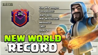 NEW WORLD RECORD - First Level 25 Clan In Clash of Clash - 2019