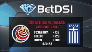 Costa Rica vs Greece World Cup Odds and Betting Predictions