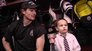 meet joey the blackhawks junior reporter