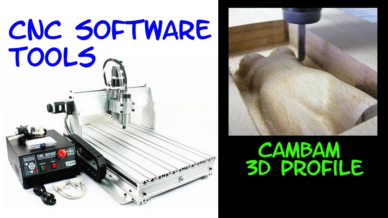 CAMBAM : 3D milling with 2 FACES profile - part 1