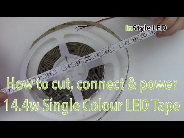 LED Strip Lights - How to cut, connect & power 14.4w Single Colour LED Tape