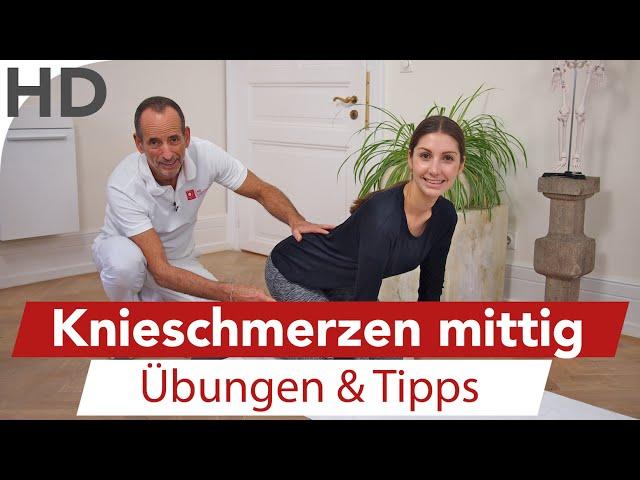 Knieschmerzen mittig // Übungen gegen Knieschmerzen, Meniskuschmerzen, Faszien, Faszientraining