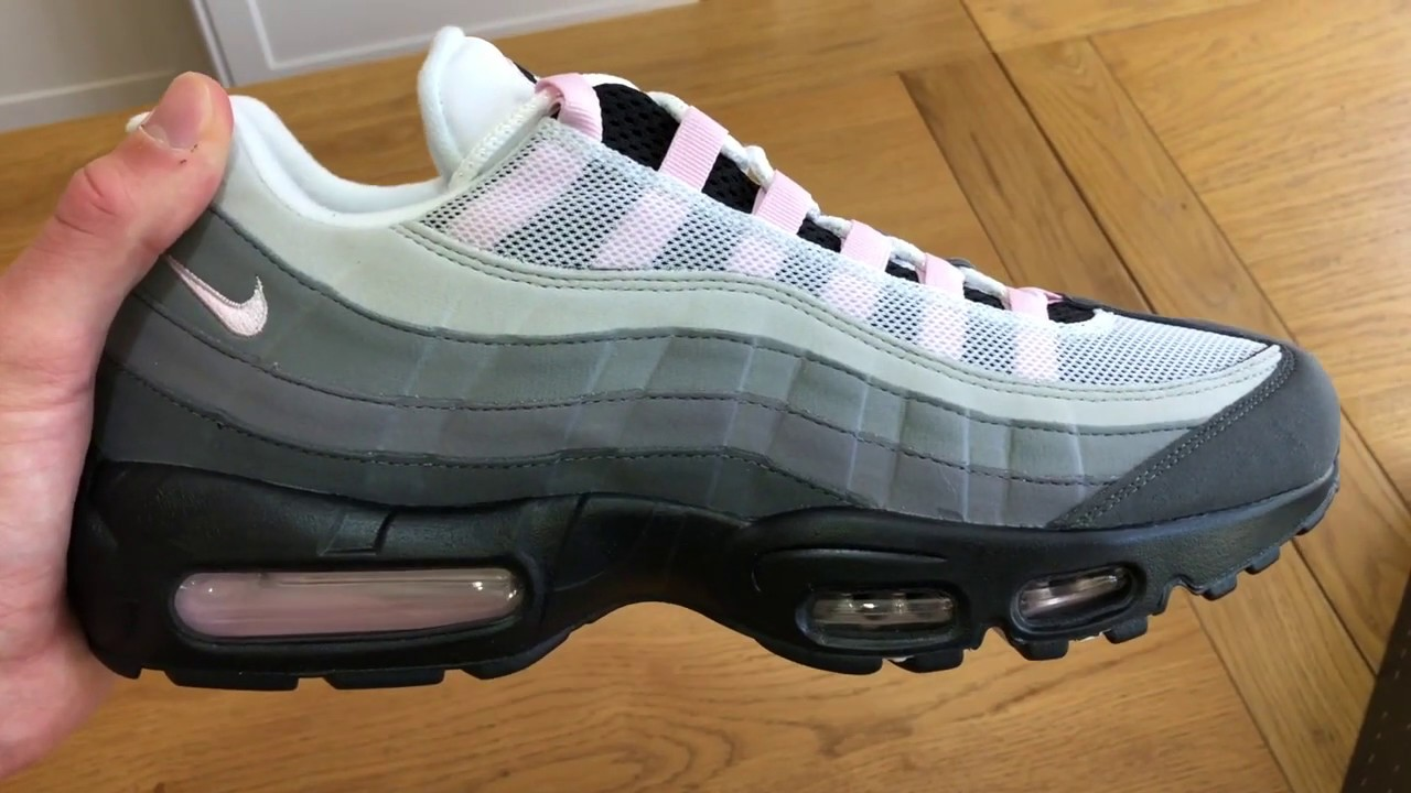 Nike Air Max 95 Pink Foam Unboxing Review And On Foot Youtube