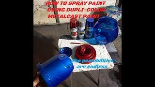 How to spray paint metalcast from duplicolor.