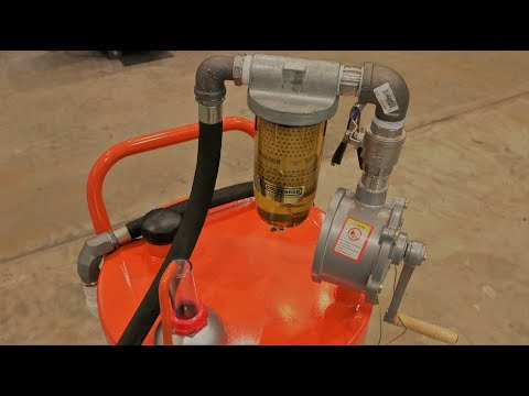 DIY Diesel Fuel Storage, and Pump for Compact Tractor