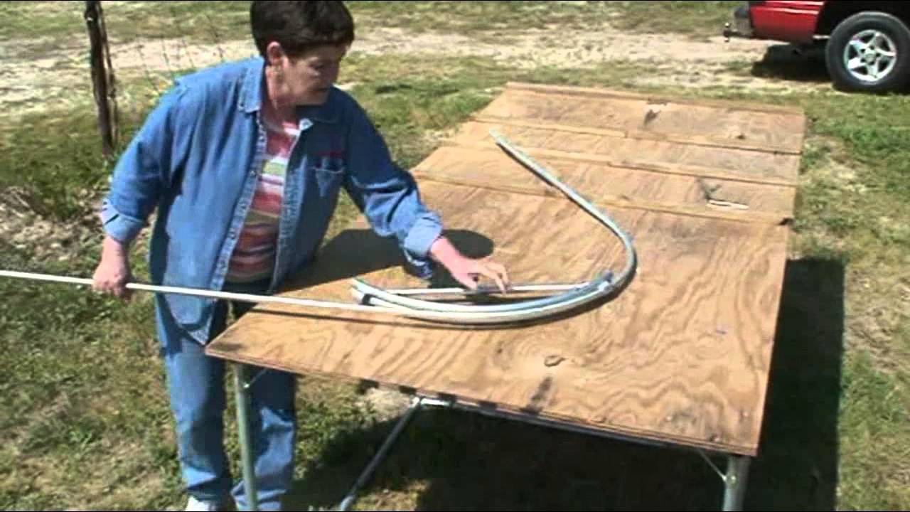 How to make a 3 ft wide garden row cover YouTube
