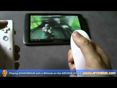 Archos 101 G9 with a Wii Remote controller (Shadowgun) Android Gaming