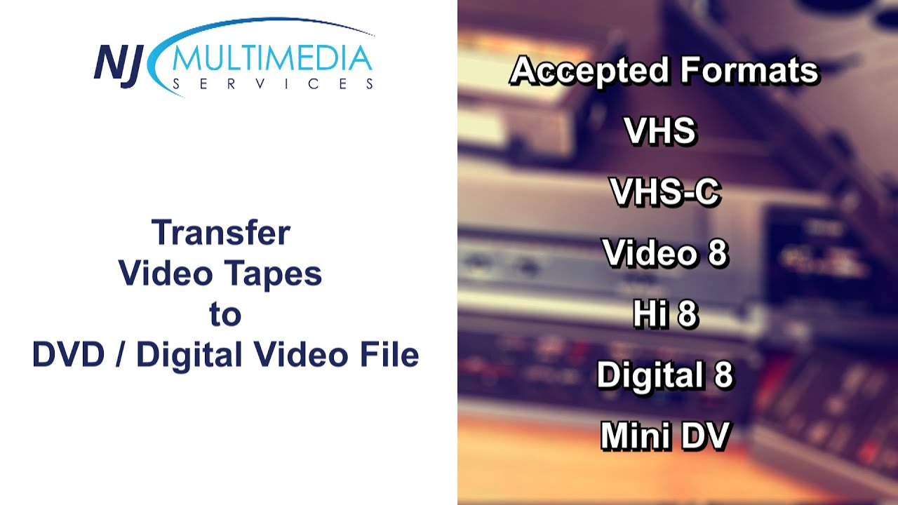 Camcorder Tapes To Dvd Vhs Tapes To Dvd Video Transfer Service In Dublin Nj Multimedia Youtube