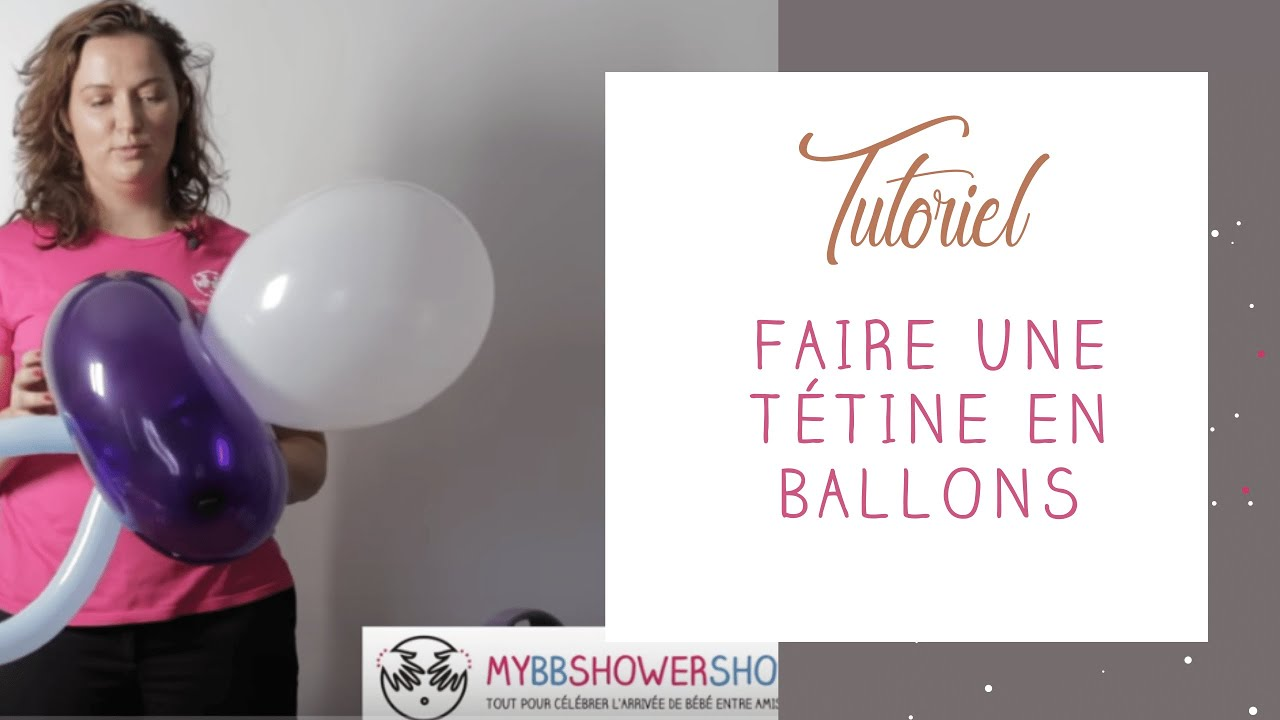 tuto comment r aliser une t tine g ante en ballons d coration baby shower anniversaire bapt me. Black Bedroom Furniture Sets. Home Design Ideas