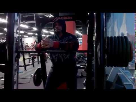 280kg incline smith bench x2