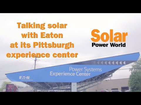 Canopy-side solar chat with Eaton