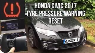 Honda Civic Tyre Pressure Warning System Reset(2016-2018)