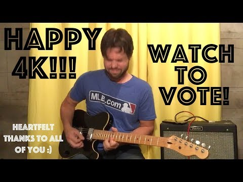 Happy 4K!!! Watch This Vid To Vote On A Song, & The Basement Christening, Yellow Ledbetter Style
